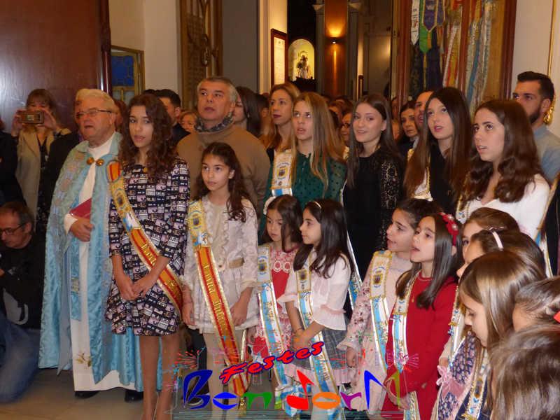 FESTES MAJORS.- Las reinas y damas de les Festes Majors Patronals 2020 se presentan ante la Mare de Déu