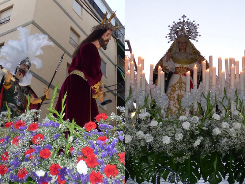 SEMANA SANTA.- Dan inicio las procesiones solemnes en Benidorm con los pasos de Ntra. Sra. de la Esperanza y la Paz, y  Ntro. Padre Jesús de la Salud y la Humildad